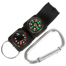 3 in1 Multifuntional Carabiner with Compass Thermometer  Key Ring Outdoor