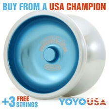 Duncan New Metal Drifter Yo-Yo YoYo 3574XP  - Blue + FREE STRINGS