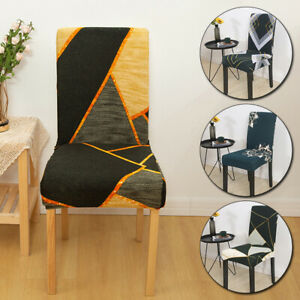 Floral Printed Removable Chair Covers Stretch Slipcovers Seat Cover Dining Decor
