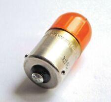 Osram Universal Motorcycle Car Indicator Bulb 12V 10W BAU15S Off Set Pins Orange