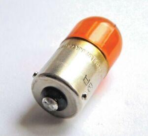 Osram Motorcycle Car Indicator Bulb 12V/10W BAU15S Off Set Pins Orange 4 Pack
