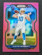 2020 Panini Prizm Justin Herbert Rookie Pink Parallel #325 Los Angeles Chargers⚡