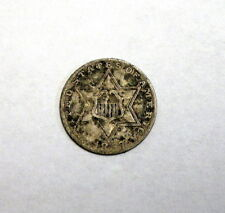 Circulated 1857 Silver Three Cent