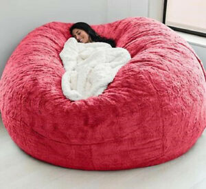 Giant removable washable bean bag bed cover living room furniture lazy sofa coat
