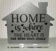 Personalised house sign Family house Decoration - New Home Gift