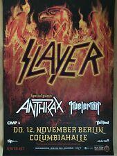 SLAYER 2015 BERLIN - orig.Concert Poster  --  Konzert Plakat  A1 NEU