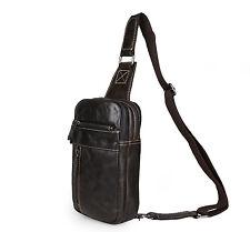 The Big B* Brust- Umhänge- Crossbody-Tasche Leder Handmade Vintage Man Sling Bag