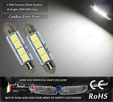 LED SMD 42mm 41mm C10W Festoon White CanBus Number License Plate Bulbs Lights