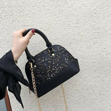 Fashion Ins Sequined Shell Hand Bag - Black (LSG063023)