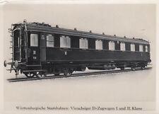 Photo / Repo Ak Würtenbergische Railways Vierachser D Zugwagen (G2615)