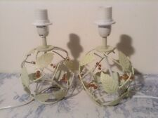 Pair French / Italian Tole Style Table Lamps - Bedside Lights