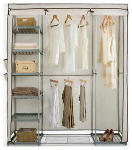 Argos Home Covered Metal Frame Triple Fabric Wardrobe - Cream