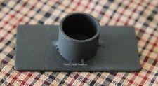 Primitive Black Iron Taper Candle Holder