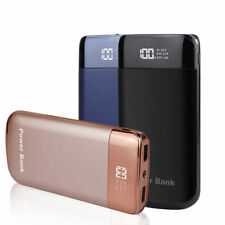 50000mah Portable LCD Power Bank 2 USB LED Backup Battery Charger For Cell Phone
