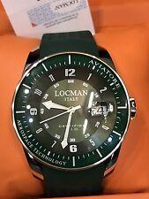 Orologio Locman Italy Aviatore 44mm 395€ Verde Acciaio/Gomma Scontatissimo Nuovo