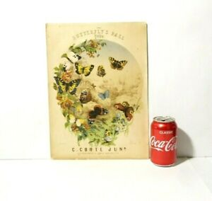 Antique Sheet Music Butterfly's Ball Polka C. Coote Colour Picture Front Page