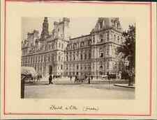 Paris, Hôtel de Ville  Vintage citrate print.  Tirage citrate  8x11  Circa