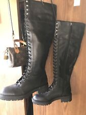 New Anthropologie Tall Zipper Boots With Small Defect