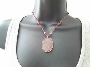 40cm Copper Tone Pendant Necklace ref:D487