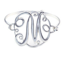 Monogram Style English Alphabet Letter Initial M Bangle Bracelet Women Jewelry