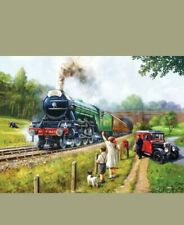 SunsOut 1000 Piece Jigsaw Puzzle - Watching The Trains - Art by Kevin Walsh