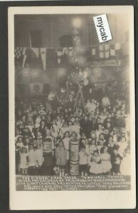 Postcard Portsmouth Hampshire WW1 Prisoner of War children Xmas RP Stephen Cribb