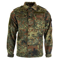 Original German army field shirt jacket military issue Flecktarn combat shirt