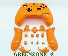 Orange Gloss Xbox One Replacement Custom Controller Shell Mod Kit with Buttons