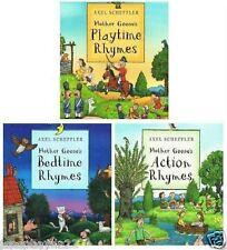 NEW - 3 book HARDBACK BOX SET - Mother Goose Rhymes Bedtime Playtime Action