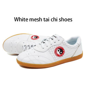 Mens Real Leather Arts Tai Chi Kung Fu Wushu Casual Sports Soft Shoes Footwear