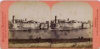 Marsiglia Forte Sant' Jean Francia Foto Stereo Neurdein Vintage Albumina Ca 1875