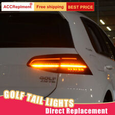 For Volkswagen Golf 7 LED Taillights Assembly Red LED Rear Lamps 14-18