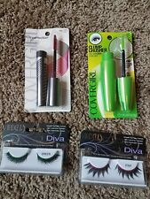 cover girl lash perfection,  clump crusher, ardell diva eyelashes lot of 4 items