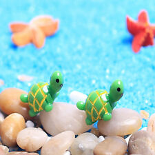 2pcs Green Cute Mini Little Resin Handicraft Turtle Micro Landscape Animals