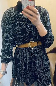 Vintage Oversized Shirt Dress 1980