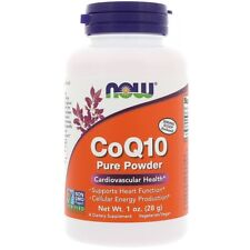 NEW NOW FOODS CoQ10 100% PURE POWDER SUPPORTS HEALTHY HEART MUSCLE 1 oz 28 g