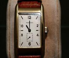 MOVADO 1811 Armbanduhr Herren 18 K Gold HAU Lederarmband mit Zertifikat u. Etui