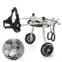 Pet 3-15lb Small 2-Wheel Wheelchair for Behind legs Handicapped Hind Leg Dog