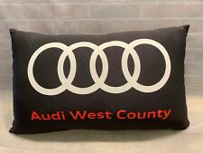 "AUDI West County Car Dealership Pillow 10"" x 17"" Black White Red"