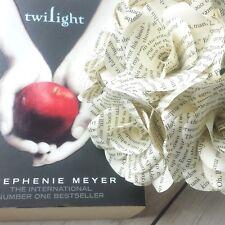 12 x papel de página Saga Crepúsculo libro Flor Rosas-hecho a mano flores de papel