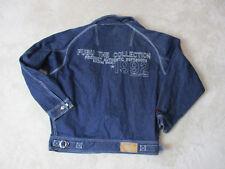 VINTAGE Fubu Platinum Jean Jacket Adult 3XL XXXL Spell Out Denim Blue Coat 90s *