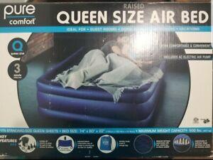 Queen Size Raised Air Mattress Pure Comfort..