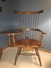 Frederick Duckloe & Bros. Windsor Writing Chair Desk (18th Century Reproduction)