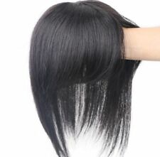 100% Real Remy Human Hair Topper Bangs Toupee Clip Hairpiece Top Wig For Women