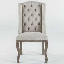"""Set of two 23"""" W Anthony Dining Chair Accent Seating Satine deconstructed back"""