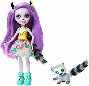 "Enchantimals Larissa Lemur & Ringlet Jungle Wood Doll 6"" New GFN44"