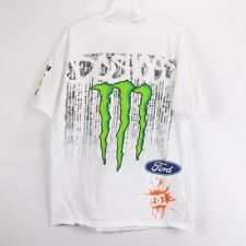 DC Shoes Mens Medium Ken Block #43 Monster Energy Racing T Shirt White