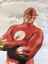 The Flash Poster By Alex Ross signed by artists/writers