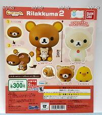 San-X  Rilakkuma 2 Capchara Figure, 4pcs - Bandai Capsule Toy   ^_^1
