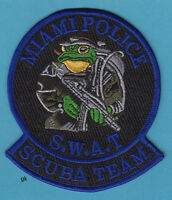 MIAMI FLORIDA SWAT POLICE SCUBA DIVE TEAM PATCH (BLUE)
